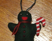 Ornament Yule Green Gingerbread Man Style, Christmas, Yule Decoration, Tree Decoration