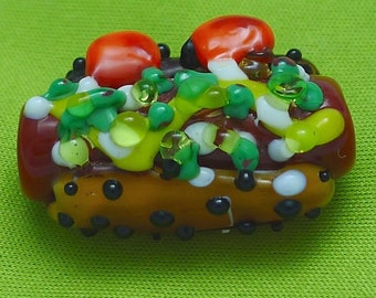 Chicago Style Hot Dog Glass Pendant