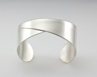 Sterling Silver Cuff Bracelet  - Silver Cuff - Folded Cuff Bracelet - Origami Bracelet -  Artisan Cuff Bracelet - Made to Order