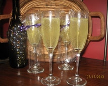 Champagne Flute Gel Candle