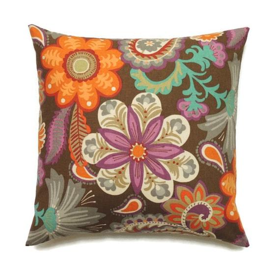 Autumn Pillows 20x20 Pillow Cover Decorative Pillow Orange