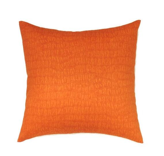 Orange Pillow Covers 16x16 Pillow Cover Decorative Pillows