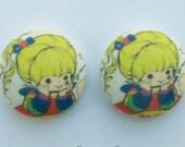 Rainbow Brite Fabric Earrings