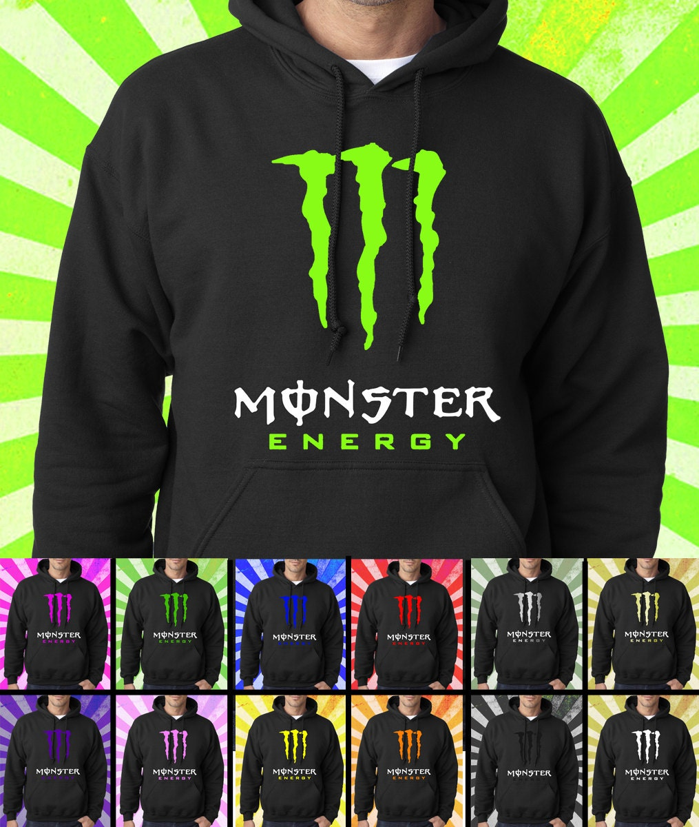 new monster energy black hoodie pullover by hoodiesandtees. Black Bedroom Furniture Sets. Home Design Ideas