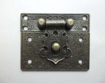 55mm x 47mm Vintage style small box hardware lock latch box latches box catches LC0015