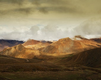 Mountains and Hills in Tibet. Fine Art Landscape Photography by Roy Hsu