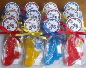 Motorcycle Birthday, Motorcycle Baby, Motorcycle Soap, Dirt Bike, Birthday Party, Motorcycle Party, Baby Shower Favor - Set of 15