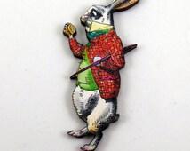 The Rabbit Alice in Wonderland Pin - C35