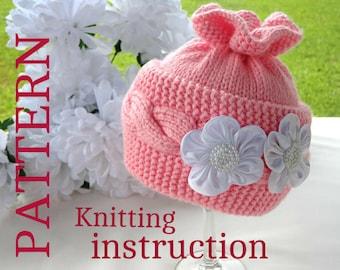 Knitting PATTERN Knitting Baby Hat Baby Patterns Knitted Baby Hat Knitting Pattern Baby Hats Knitting Hat  Newborn Hat  ( PDF file )