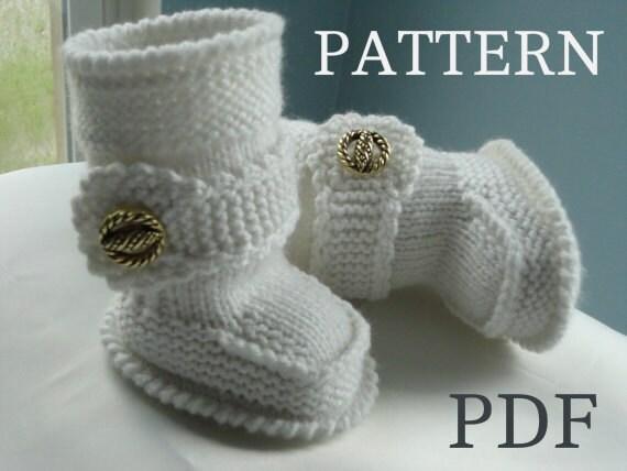 Epipa Knitting Pattern Baby Booties : Knitting PATTERN Baby Booties Baby Shoes Baby Boots Pattern