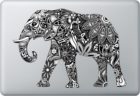 carved elephant macbook and windows laptop stickers decals. Black Bedroom Furniture Sets. Home Design Ideas