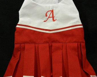 You choose colors and team- Dog cheerleader costume XXS-M
