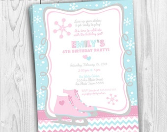 Ice Skating Invitation/Birthday Invitation Card/Invitation Card/Ice Skate Invitation/Invitation/Ice Skate Party/Ice Skating/Printable/Invite