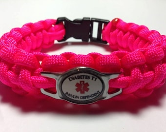 Diabetic T1 Insulin Dependent Medical Alert Bracelets