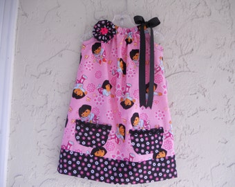 Dora the explora pillow case dress in size 4.