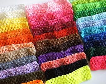 """YOU PICK COLORS - Crochet Headbands - Waffle Headband - 1.5"""" Bulk Baby Headband - Stretchy Newborn Headband, Infant Headband 1.5 inch"""