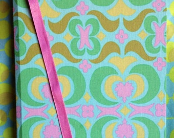 Funky Green Pattern. 96 Page Hand Bound Note Book