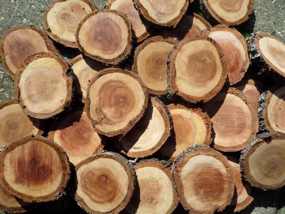 Fette di legno fatti a mano mosaico e artigianato bottoni di for Piccoli oggetti in legno fatti a mano