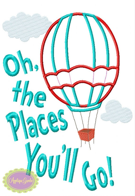 Oh the places you 39 ll go hot air balloon by geauxbabyboutiquela Oh design