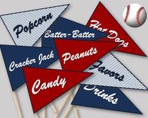 Baseball Stick Flags and Baseball Signs