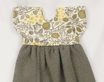 Gray & Yellow Kitchen Towel