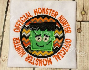 Official Monster Hunter Frankenstein Boy Halloween Shirt, Halloween Shirt or Bodysuit, Shirt for Halloween, Halloween Clothing