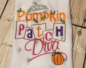 Pumpkin Patch Diva Shirt or Bodysuit, Pumpkin Patch Shirt, Pumpkin Patch