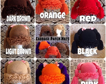 Child Size - Cabbage Patch Wig/Hat
