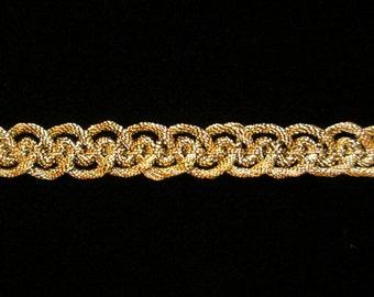 "660.2 Metallic gimp trim - ""Military Gimp"" - antique gold - 3/8"" (9mm)"