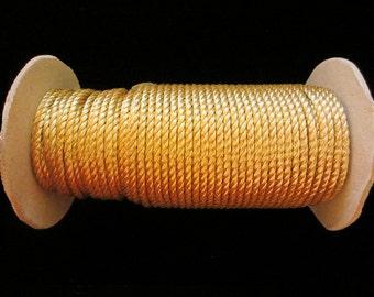 """20.1 Cord bright gold 1/8"""" (3mm)"""