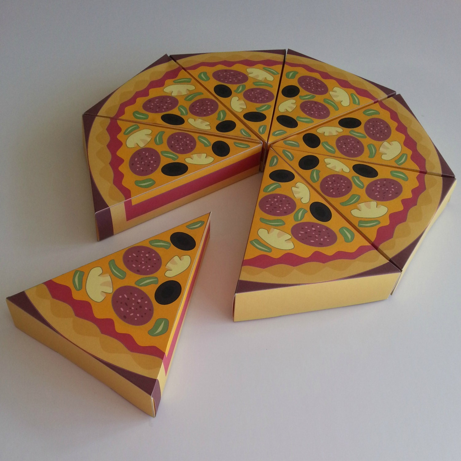 how to make a pizza box with paper