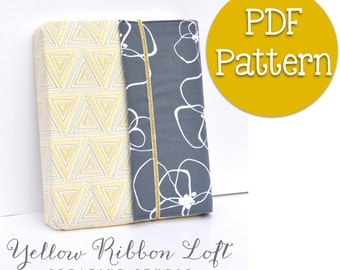 Protective Cover / Case for Wire Spiral Bound Planner- Sewing Pattern PDF Digital Download Ebook
