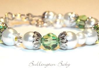 Baby Bracelet, Girls Bracelet, Baby Pearl Bracelet, Girls Pearl Bracelet, Baby Birthstone Bracelet, Girls Birthstone Bracelet (B22)