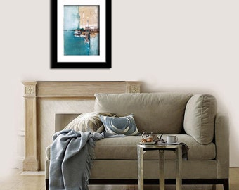 Meet Me By The Sea - Original Large Abstract Contemporary Modern Art Painting Print by Elwira Pioro - NuElle