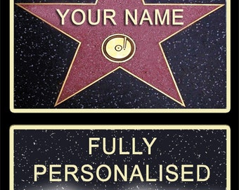 Personalised HOLLYWOOD STAR
