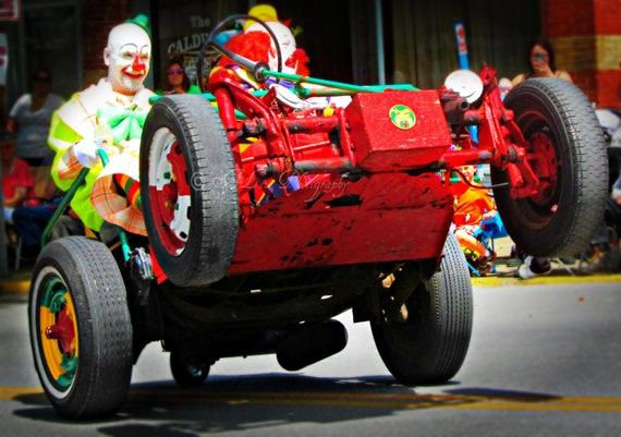 Shriner Clowns, Clown Car, Parade, Fine Art, Photography Art, Nursery Art, Childrens Art, Summer Photography
