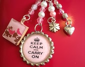 Keep Calm Pink Planner Charm