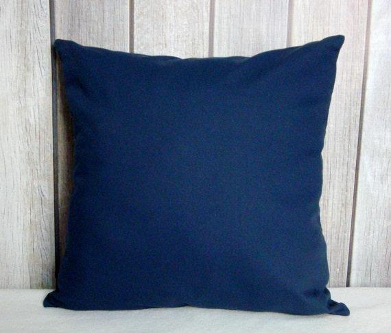 Navy Pillow. Pillow Cover. Home Decor. Throw Pillow. Modern Pillows. Blue Pillow