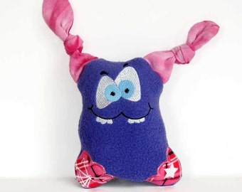 Stuffed Toy Monster - Cute, Silly - Kids Monster - Plushie