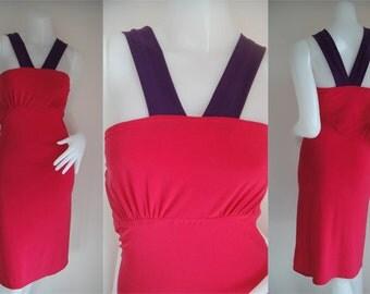 Pink Purple short dress elegance all size