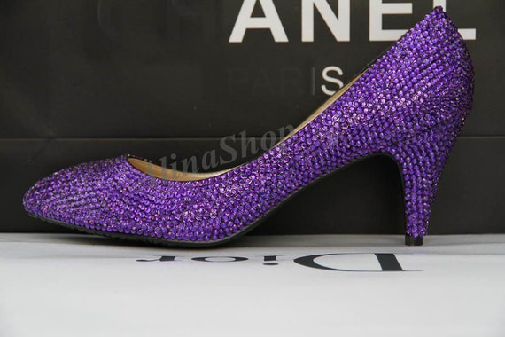 Purple Bling Wedding Shoes Purple Wedding Shoes Violet