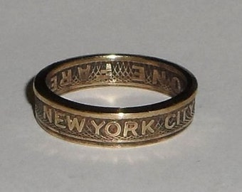 New  York City  Subway  Token Coin Ring  Size  4-10
