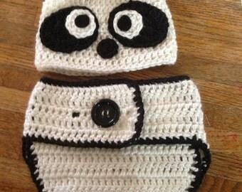 Crochet Panda outfit/prop