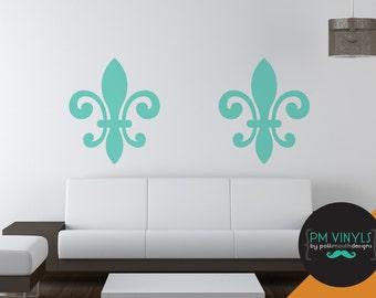 Fleur de Lis, Set of 2 Vinyl Wall Decals - SHA010