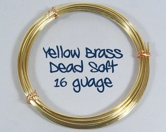 16ga 10ft DS Yellow Brass Wire