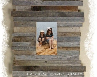 "Beachcomber ""Shanty"" Reclaimed Wood / Barnwood Picture Frame"