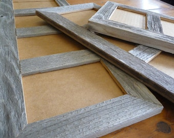Multi Opening  4 X 6 Barnwood Panel Collage Picture Photo Frames. Choice of natural or painted finishes.  Includes glass,  backing & hanger