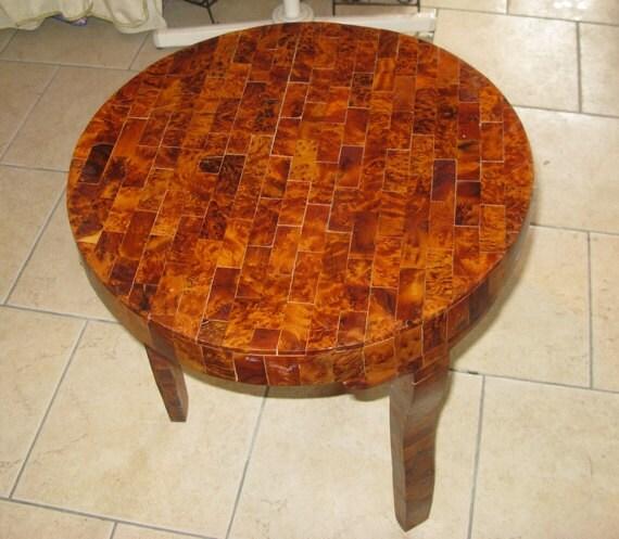 Table de bout de table table de marqueterie marocaine for Table a the marocaine