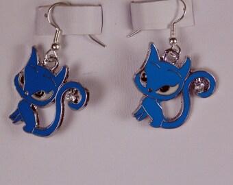 Rhinestone Tail Cat Earrings