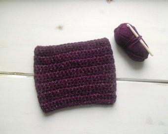 Crochet cowl scarf, crochet circle scarf, burgundy cowl scarf - MADE TO ORDER